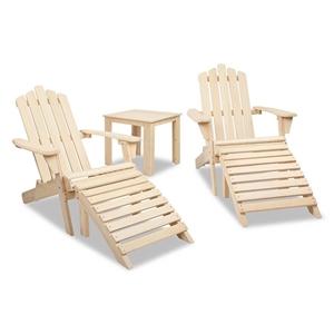 Gardeon 5 Piece Wooden Outdoor Chair and