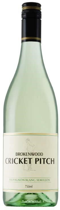 Brokenwood `Cricket Pitch White` Sauv Blanc Semillon 2018 (6 x 750mL), AUS.