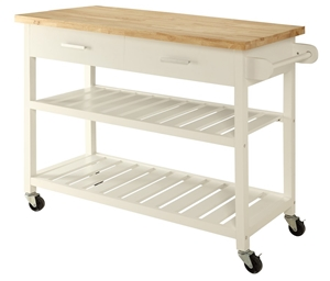 Kitchen Island Trolley Top With Open She