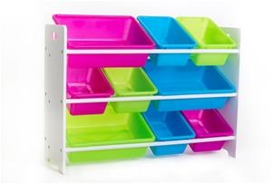 Kid's Toy Organizer with 9 Storage Bins