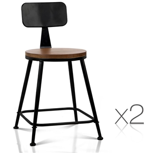 Artiss Set of 2 Elm Wood Dining Chairs -