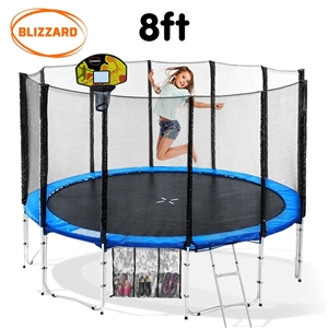 Blizzard 8 ft trampoline with net and ba