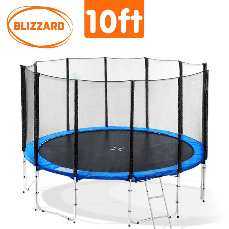 Blizzard 10 ft trampoline with net - Blue