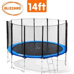 Blizzard 14 ft trampoline with net - Blu