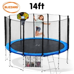 Blizzard 14 ft trampoline with net and b
