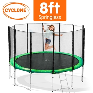 Cyclone 8 ft Springless trampoline with