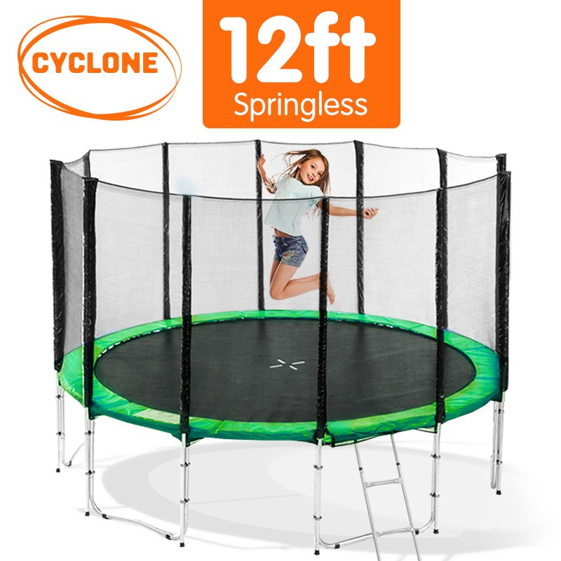 Cyclone 12 ft Springless trampoline with net