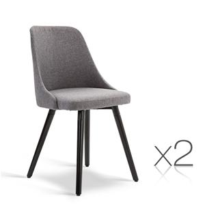 Artiss Set of 2 Fabric Dining Chair - Gr