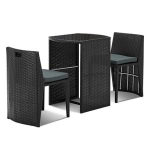 Gardeon 3 Piece PE Wicker Outdoor Table