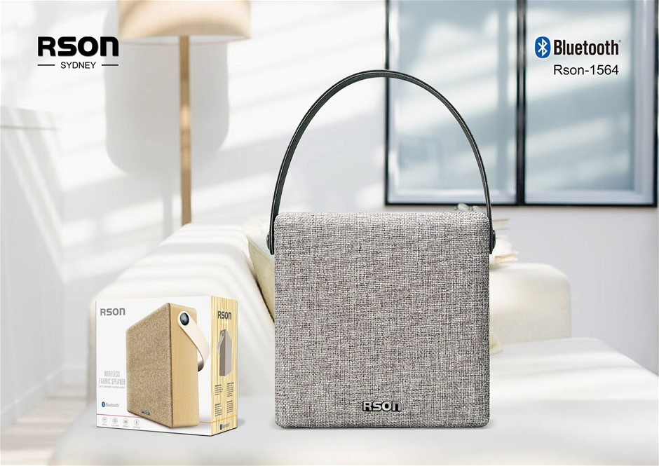 Rson Wireless Black Fabric Box Speaker (1564)
