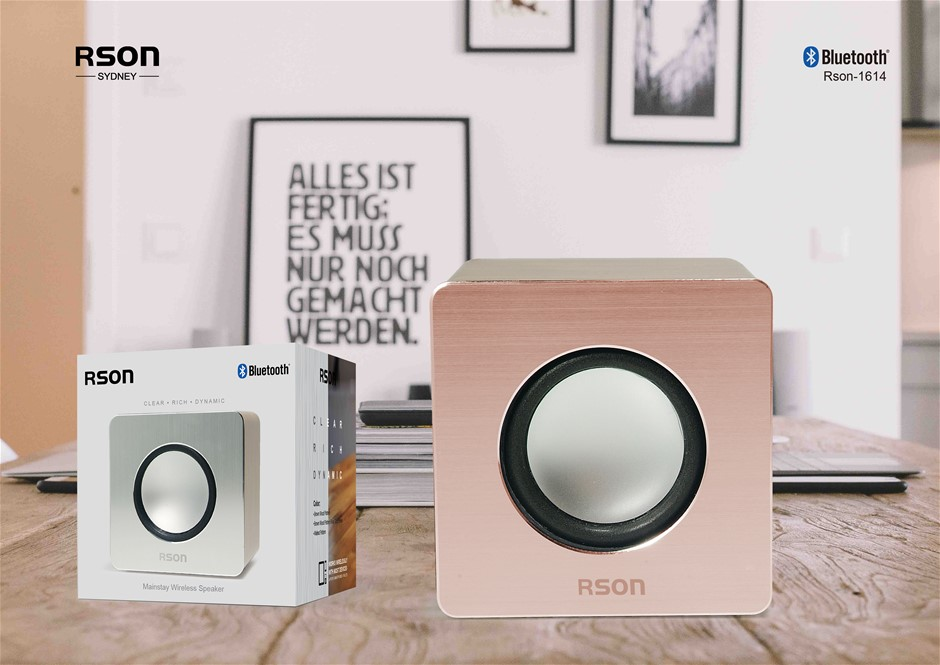 Rson Mainstay Brown Wood Wireless Speaker (1614)
