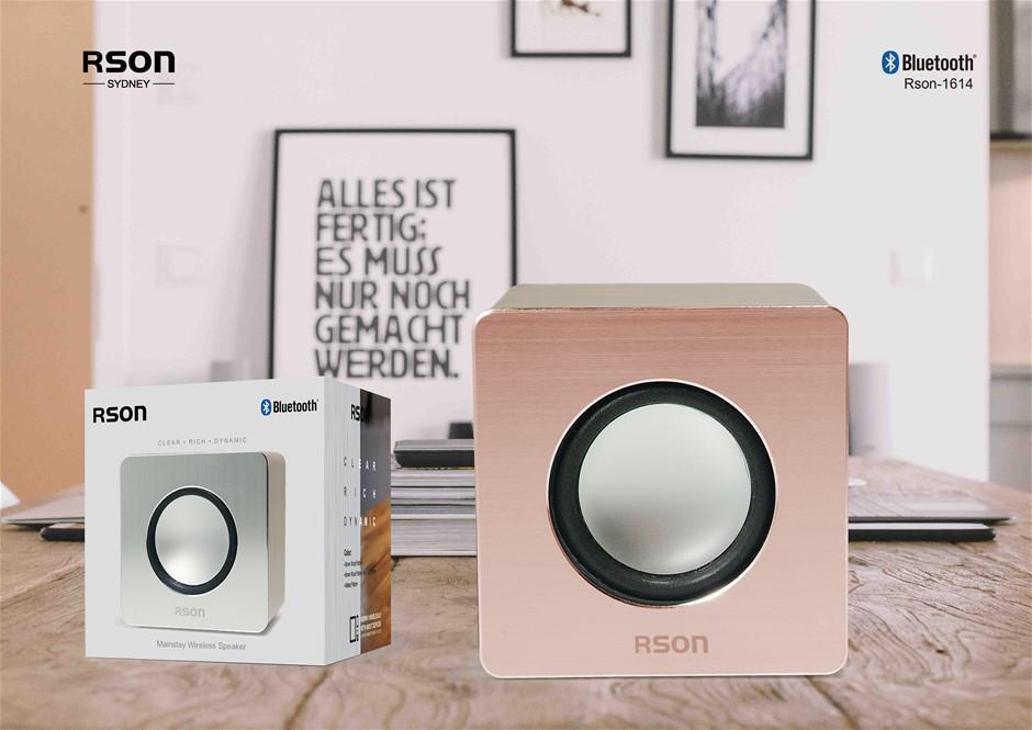 Rson Mainstay Brown Wood Wireless Speaker (1614)