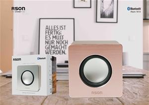 Rson Mainstay Brown Wood Wireless Speake