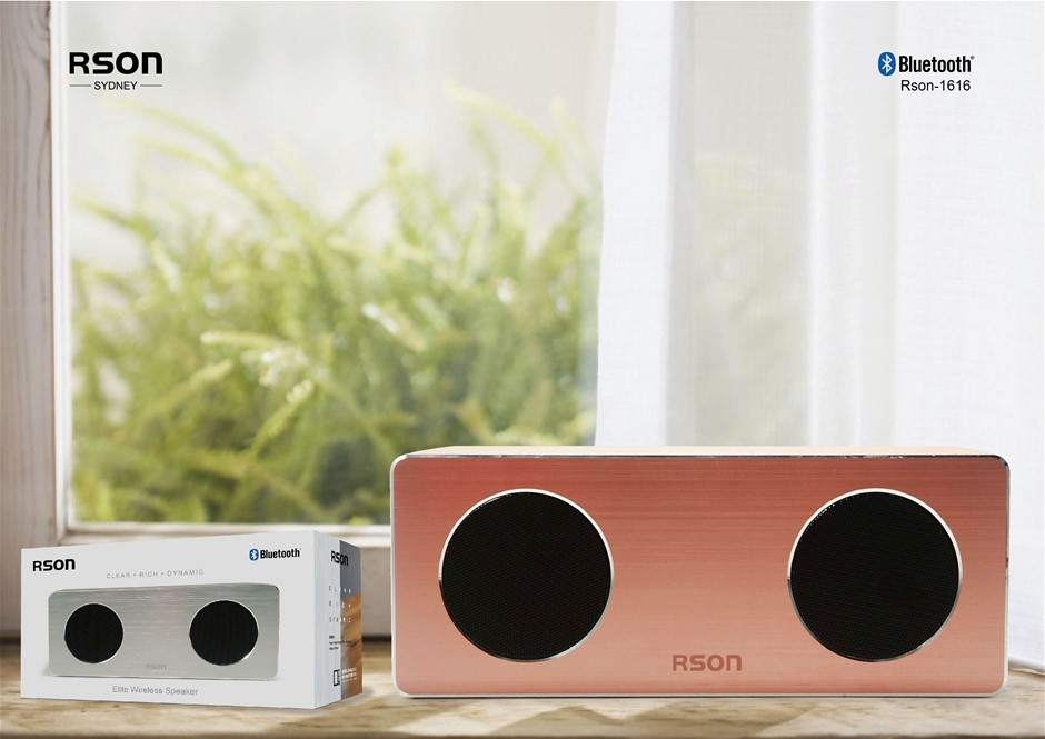 Rson Elite Brown Wood Wireless Speaker (1616)