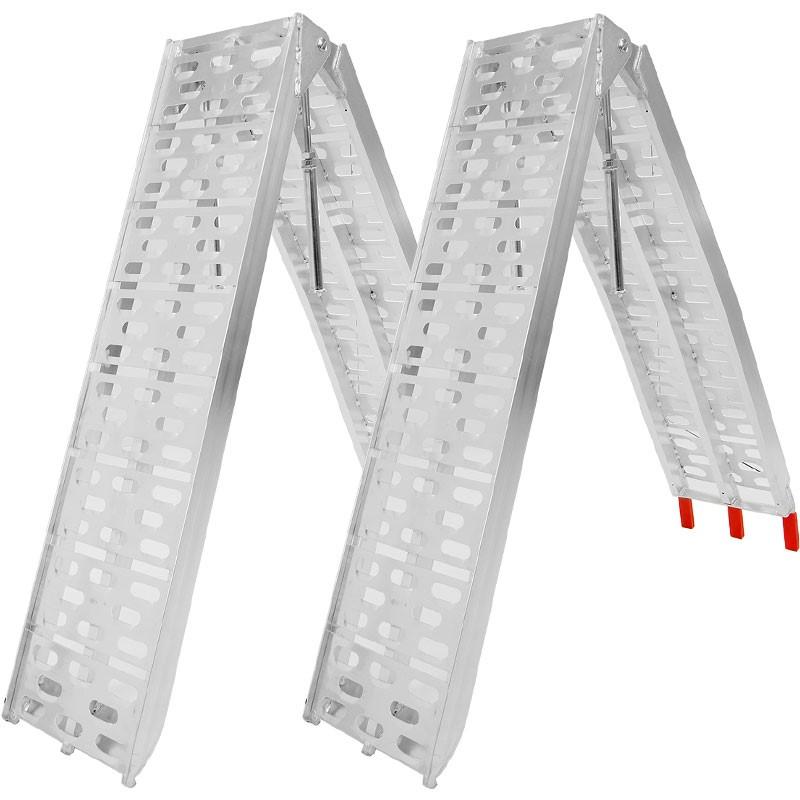 Heavy duty aluminium ramps: 640kg total capacity.