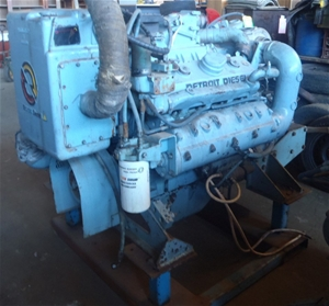 8V92 Maritine Detroit Diesel, Ex State Ferries with Hydraulic unit ,turbo c