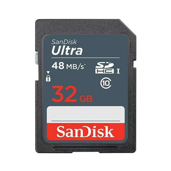 SanDisk 32GB SDHC CLASS 10 ULTRA 48MB/s SDSDUNB-032G