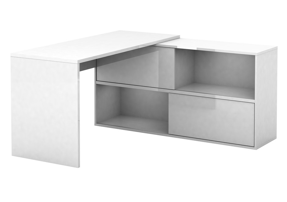 Mateo High Gloss Executive Desk
