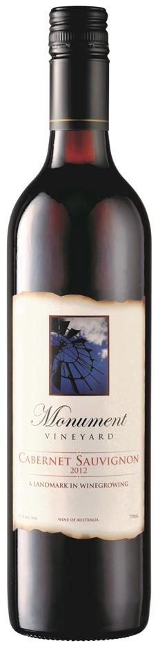 Monument Vineyard Cabernet Sauvignon 2012 (6x 750mL) Central Ranges
