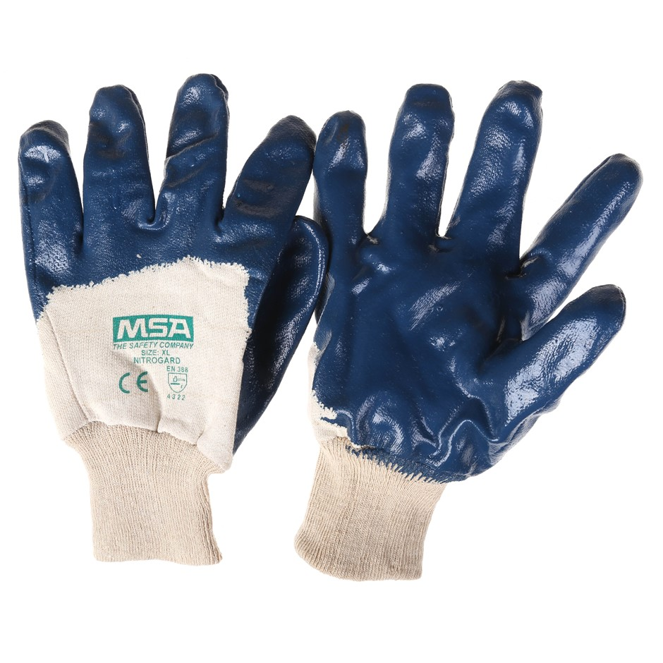 24 Pairs x MSA Nitrogard Palm Coat Knit Wrist Work Gloves, Size XL. (SN:227