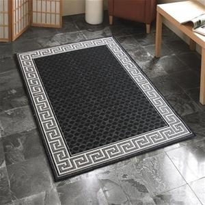 Buy Indoor Outdoor Greek Key Design Rug Black 270 X