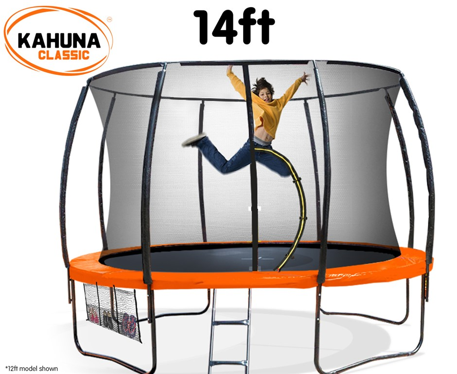 Kahuna Trampoline 14 ft - Orange