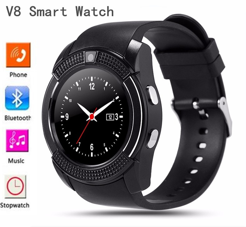 V8 Bluetooth Smart Watch Phone Mate Touch Screen for IOS Android iPhone