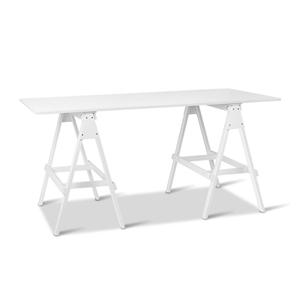 Miraculous Artiss Wooden Study Desk With Storage Shelf White Interior Design Ideas Tzicisoteloinfo