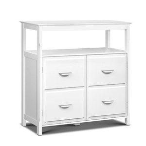 Artiss Kitchen Storage Buffet With Shelves White