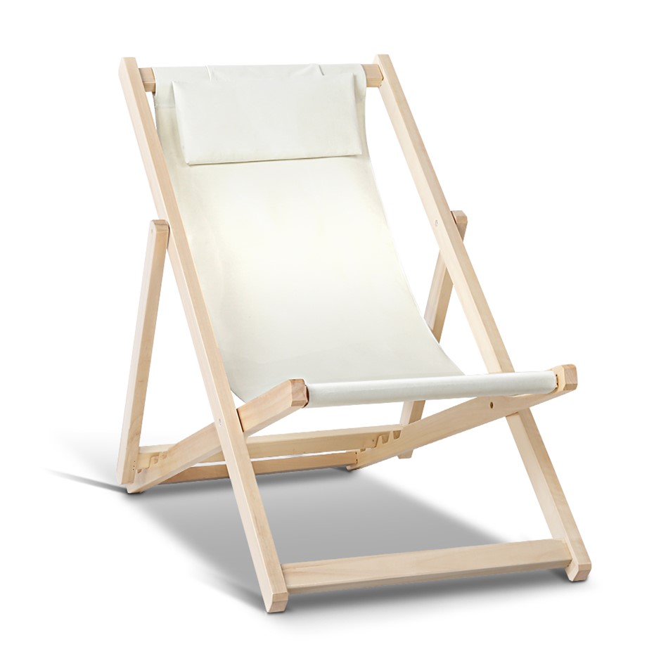 Gardeon Outdoor Furniture Lounge Chairs Deck Chair Folding Wooden Patio