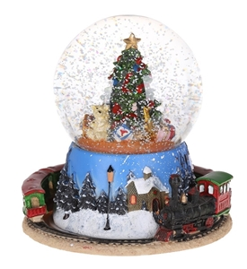 Christmas Snow Globes Australia.Wind Up Musical Christmas Snow Globe With Train Buyers Note