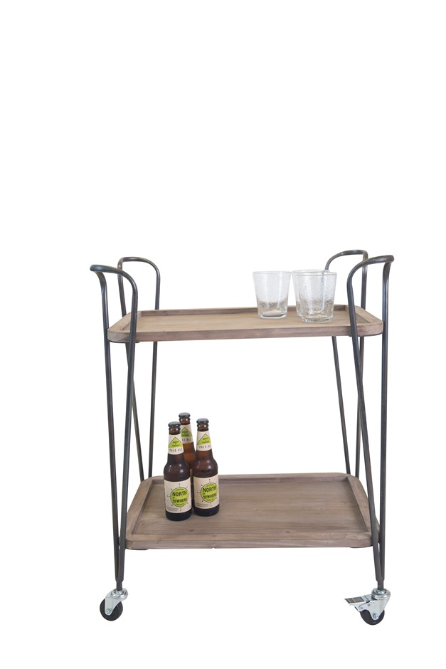 Industrial Stylish 2 Tier Drinks Cart