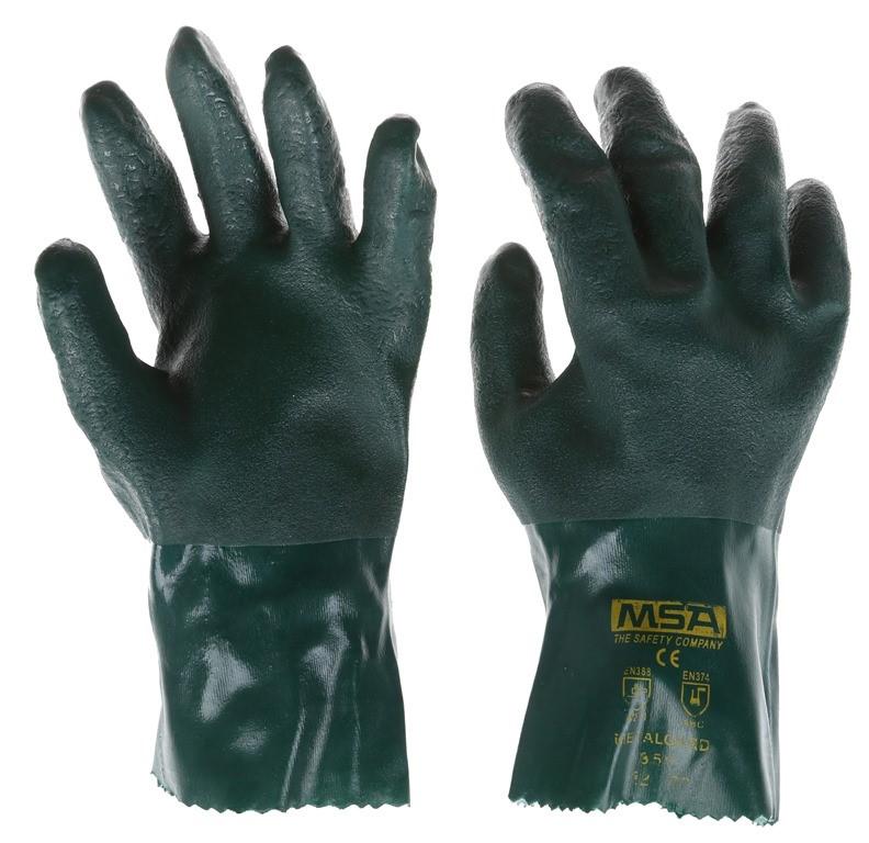 20 x MSA Metaguard PVC Heavy Duty Gloves, Size L, Soft Jersey. (SN:220875-K
