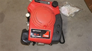 5 5HP VERTICAL SHAFT LAWN MOWER ENGINE condition unknown as is