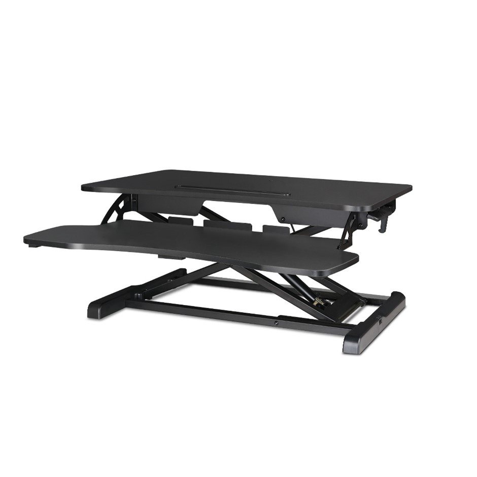 Height adjustable standing desk riser black