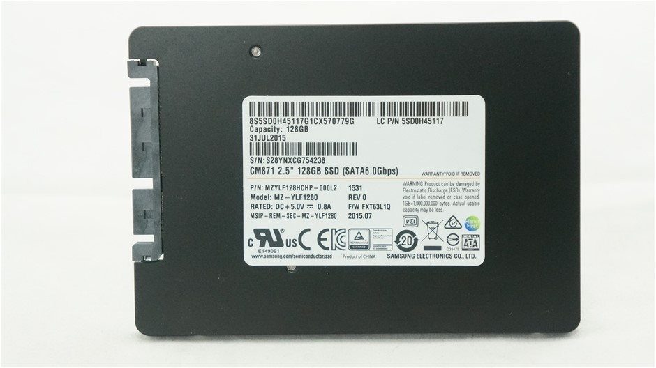"Samsung 2.5"" 128GB Solid State Drive Part Number: MZYLF128HCHP-000L2"