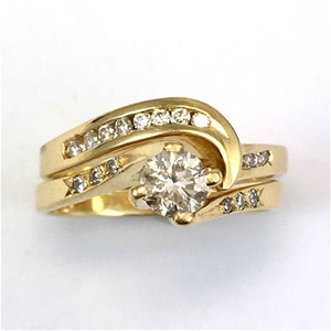 18ct Yellow Gold, 0.56ct Engagement Ring