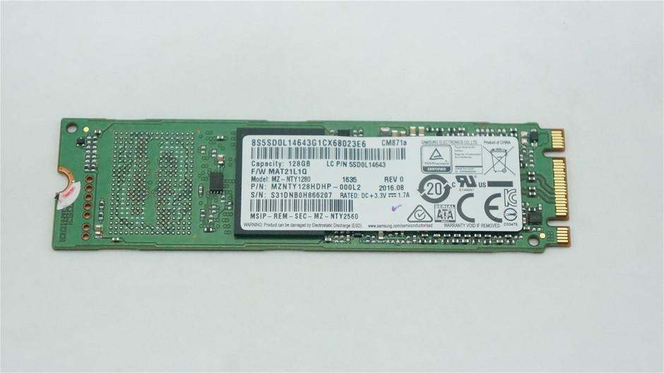 Samsung M.2 2280 SATA 128GB Solid State Drive, MZNTY128HDHP-000L2