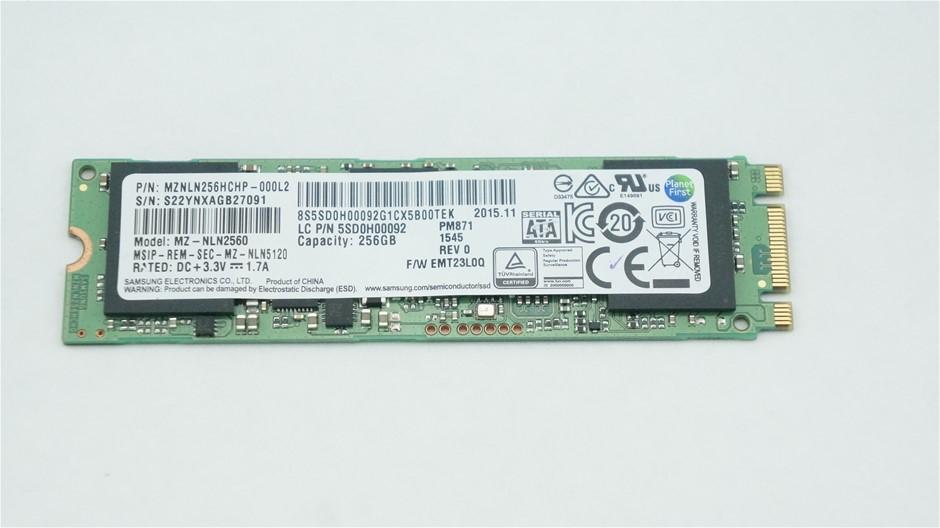 Samsung M.2 2280 SATA 256GB SSD Part Number: MZNLN256HCHP-000L2