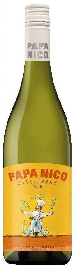 Papa Nico Chardonnay 2018 (12 x 750mL), SA.