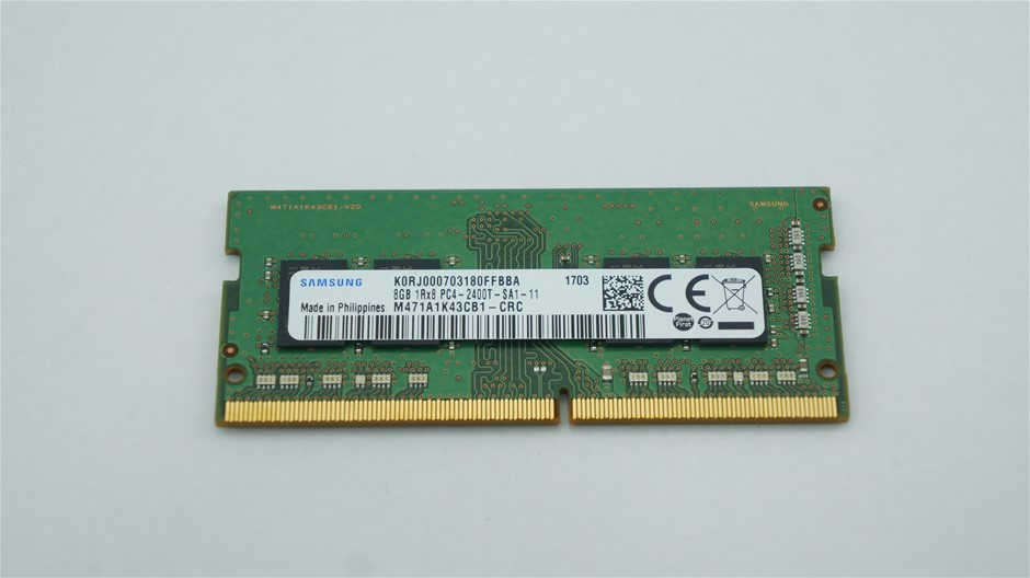Samsung 8GB DDR4 PC4-2400T SO-DIMM Double-Sided 8-Chip Memory Module