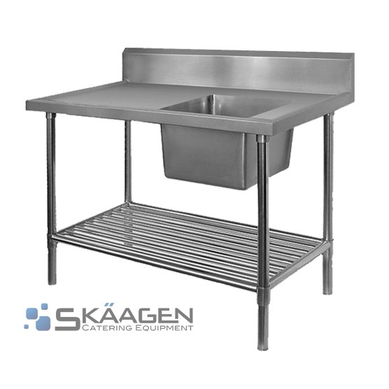 Unused Stainless Steel Sink 1300 x 600 Right positioning, D