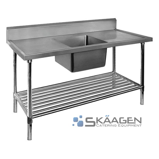 Unused Stainless Steel Sink 1500 x 600 Centre positioning Dimensi