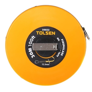 TOLSEN Fibreglass Measuring Tape, Metric