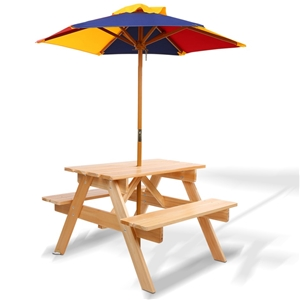 Keezi Kids Wooden Picnic Table Set with