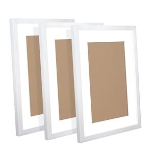 3 Piece Photo Frame Set - White