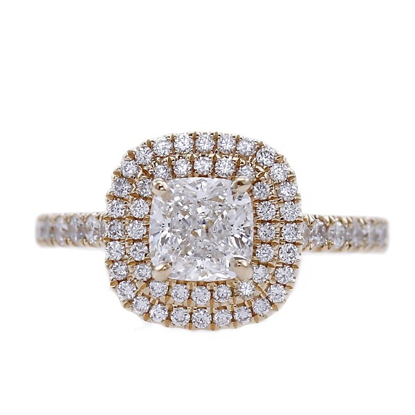 GIA Certified 18ct Yellow Gold, 1.40ct Diamond Engagement Ring