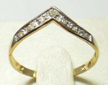Genuine Diamond 9K Yellow Gold Ring