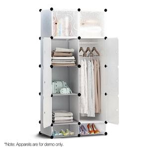 10 Cube DIY Storage Cabinet Wardrobe - W