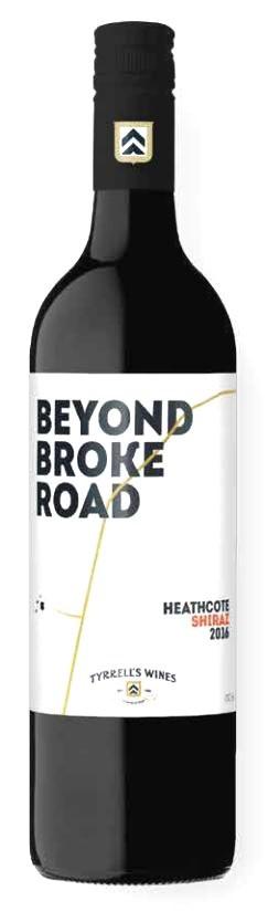 Tyrrell's `Beyond Broke Road` Shiraz 2017 (6 x 750mL) Heathcote, VIC